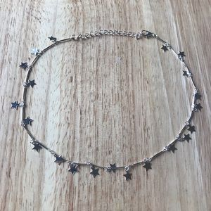 Dangly Star Choker Necklace